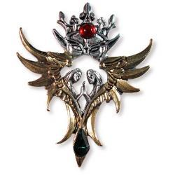 Anioły Miłości Oberon - posrebrzane srebro 925 oraz pozłacane 18 karatowym złotem
