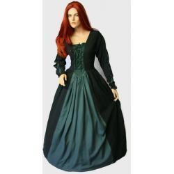 Magiczna suknia średniowieczna Rhiannon wysokiej jakości wykonana ręcznie rozmiary: 36-46