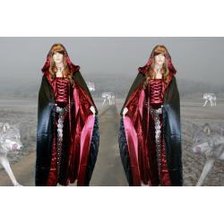 Komplet magiczna suknia średniowieczna oraz płaszcz. Dostępne rozmiary 36-46.