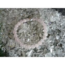 Bransoletka KWARC ROZOWY naturalny - 100% naturalna - tylko 1 sztuka - piękna, magiczna i naenergetyzowana
