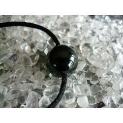 Sprzedany - zapytaj o podobny - Naszyjnik czarny turmalin Schörl naturalny - 100% naturalna - tylko 1 sztuka - piękna, magiczna i naenergetyzowana
