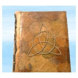 Ostatnia szansa - Księga Cieni papier czerpany ręcznie, pawdziwe liście!