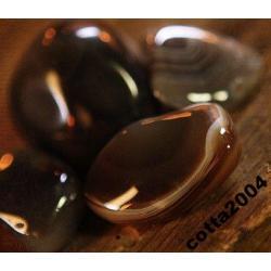 TALIZMAN amulet AGAT brązowy - szczęście rodzinne, ochrona dla dzieci, kamień szczęścia i pogody ducha