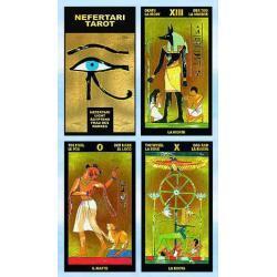 78 kart - Tarot Nefertari autor: Silvana Alasia - poświęcone i namaszczone - złocone