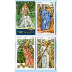 78 kart - Tarot magów i czarownic - 66 x 120 mm - karty poświęcone i namaszczone