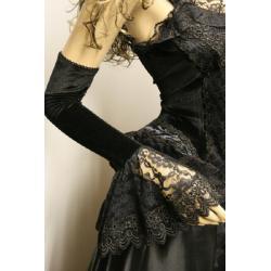 rękawiczki - rękawy - czarne - rozmiar uniwersalny