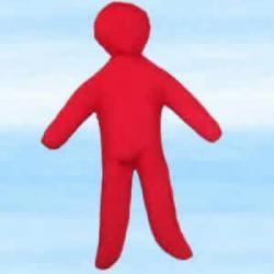 Lalka magiczna do rytuałów miłosnych voodoo - czerwona około 30x18 cm
