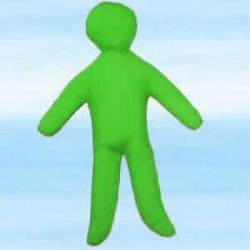 Lalka magiczna do rytuałów finansowych voodoo - zielona około 30x18 cm