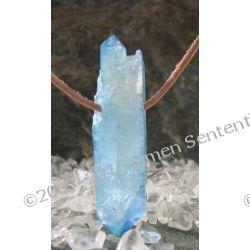 Talizman Aqua Aura - kryształ naturalny w reakcji z naturalnym złotem