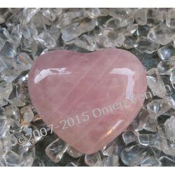 Serce aktywujące miłość z kwarcu różowego do medytacji, modlitwy, na ołtarz magiczny
