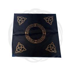 Obrus do rozkładania kart, rytuałów i zaklęć magicznych, na ołtarze - Celtycki - wzór złocony