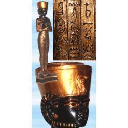 Piękny świecznik na świece tradycyjne i rytualne - faraon Taharqa