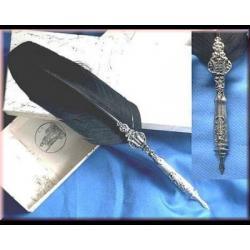 Magiczne gęsie pióro - czarne - do pisania listów lub tekstów rytuałów