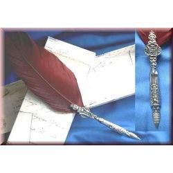 Magiczne gęsie pióro - bordowe - do pisania listów lub tekstów rytuałów