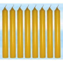 8 szt magicznych świec żółtych do rytuałów - farbowanych w całości