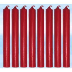 8 szt magicznych świec czerwonych do rytuałów - farbowanych w całości