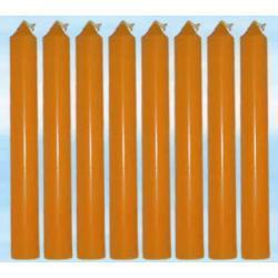 8 szt magicznych świec pomarańczowych do rytuałów - farbowanych w całości