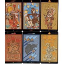 78 kart - Tarot Majów - 66x120 mm karty poświęcone i namaszczone przez Marię Bucardi