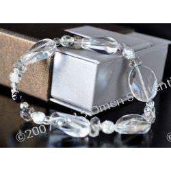 Anielska Bransoletka naturalny Spinel i kryształy górskie Harkimer diament z gwarancją pochodzenia od Marii Bucardi