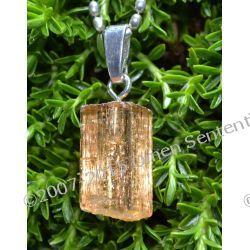 Naturalny złoty Topaz królewski - talizman Słońca, królów i magów - 15 x 7 x 6  mm - srebro 925