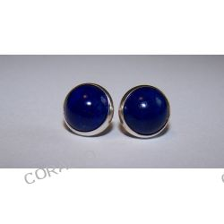 Kolczyki wkrętki - Lapis Lazuli (d25)