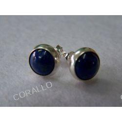 Kolczyki wkrętki - Lapis Lazuli (s37)