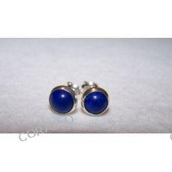 Kolczyki wkrętki - Lapis Lazuli (m25)