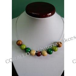 Naszyjnik - odcienie brązu i zieleni