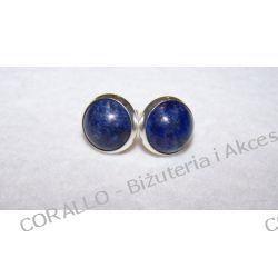 Kolczyki wkrętki - Lapis lazuli (d45)