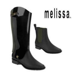MELISSA 'RIDING' black/green