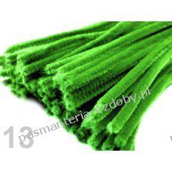 Drut /druciki kreatywne plusz 6mm/30cm - zielony Koraliki i cekiny
