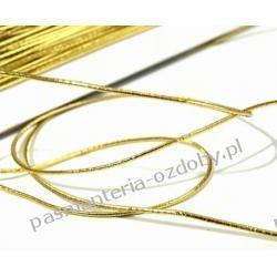 GUMA / GUMKA okrągła 1mm / 25m złota srebrna biała czarna Akrylowe