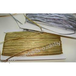 SUTASZ sznurek czeski PEGA 2,5mm złoty i srebrny
