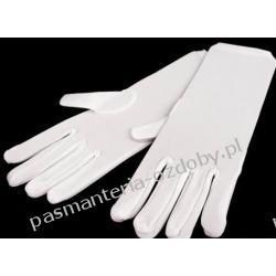 RĘKAWICE WIZYTOWE MĘSKIE białe elastyczne Akcesoria i gadżety