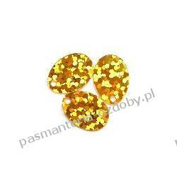 CEKINY LASEROWE ŁEZKI 9x13mm 5g (ok.160szt) - złoty Akrylowe