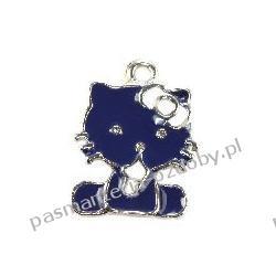 ZAWIESZKI CHARMS hello kitty niebieski 13 x 14 mm Akrylowe