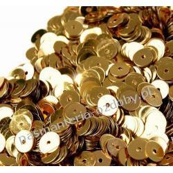 CEKINY KOŁA 6mm 6g (ok 600szt) - złoty