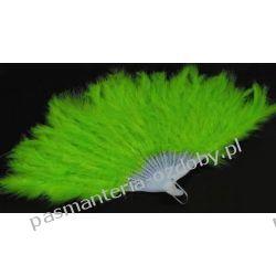 WACHLARZ Z PIÓR MARABUTA - -zielony Akrylowe
