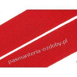 Guma gładka, tkana szer. 20mm czerwona 1m Koraliki i cekiny