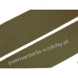Guma gładka, tkana szer. 20mm khaki 1m Akrylowe