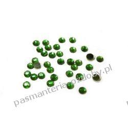 DŻETY termoprzylepne SS10 3 mm -1g (80szt) - ciemny zielony Koraliki i cekiny