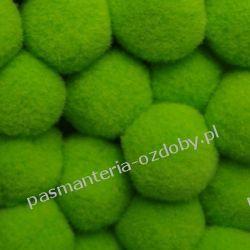 POMPONY, POMPONIKI OZDOBNE duże 2cm/1szt - jasny zielony Akcesoria i gadżety