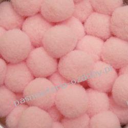 POMPONY, POMPONIKI OZDOBNE małe 1cm / 1 szt - różowy Akcesoria i gadżety