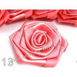 RÓŻYCZKI, DUŻE RÓŻE ATŁASOWE średn. 7cm - łososiowy róż Akcesoria i gadżety