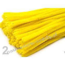 Drut /druciki kreatywne plusz 6mm/30cm - żółty