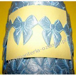 APLIKACJE -KOKARDKI T22 - 0,5 metra - błękitny Koraliki i cekiny