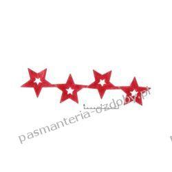 APLIKACJE Gwiazdki wz89 - 0,5m - czerwony Koraliki i cekiny