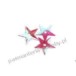 CEKINY TĘCZOWE GWIAZDKI 13mm 4g (ok 170szt.) - różowe Koraliki i cekiny
