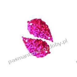 CEKINY LASEROWE LISTKI 15x25mm 5g (ok.70szt) - różowy Akcesoria i gadżety