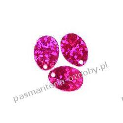 CEKINY LASEROWE ŁEZKI 9x13mm 5g (ok.160szt) - różowy Akrylowe